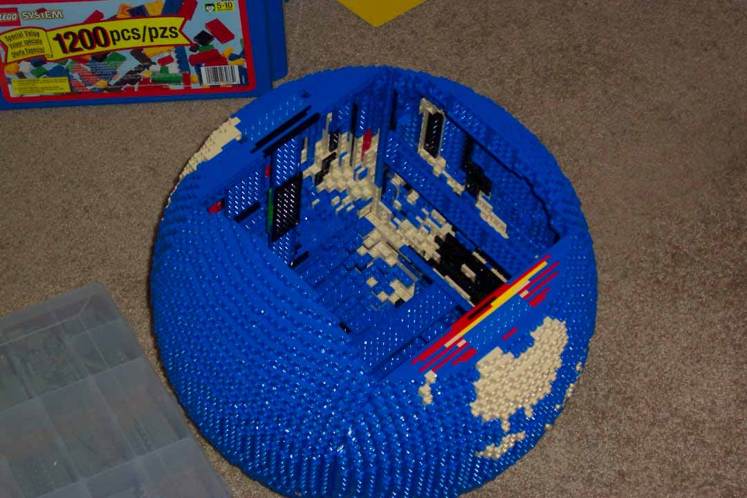 Globe Redesigned Lego