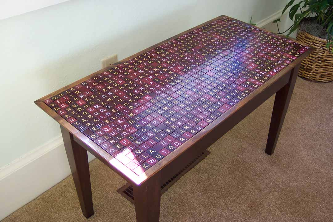 Eric Harshbarger's SCRABBLE website, Table
